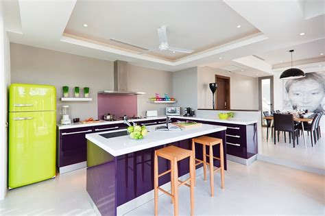 Purple Kitchen Design by Purple Kitchen Interior Design Ideas