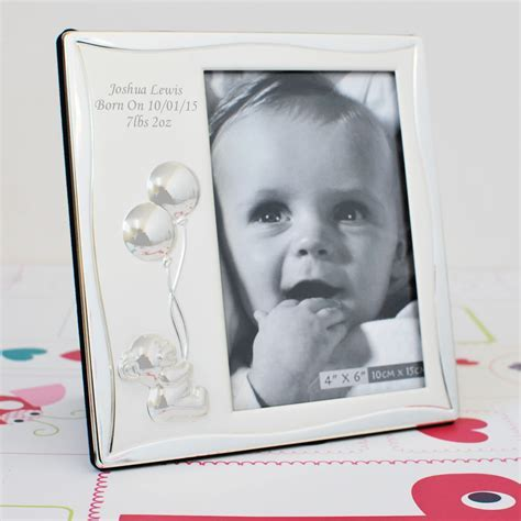 Engraved Baby Photo Frame Ideal Baby Gifts 6x4