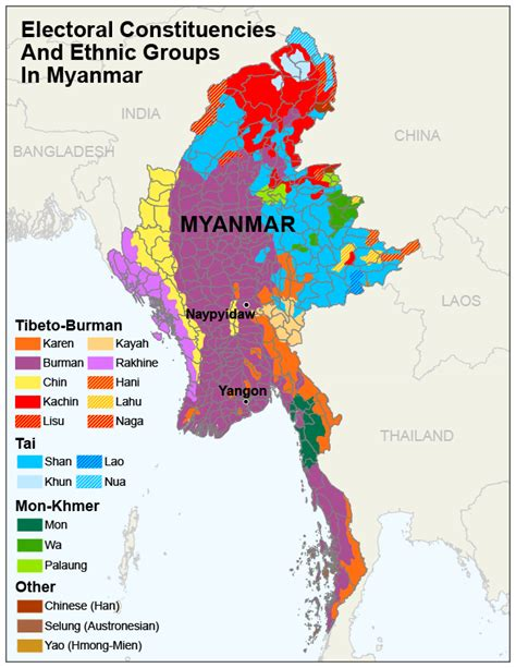 ethnic groups in burma map