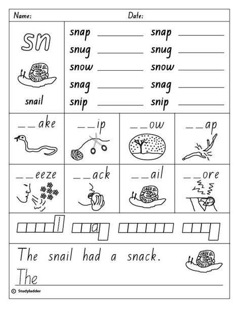 sn words worksheets studyladder literacy mathematics