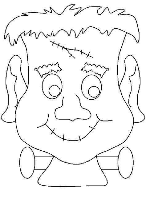 halloween coloring pages monsters free silly faces coloring pages