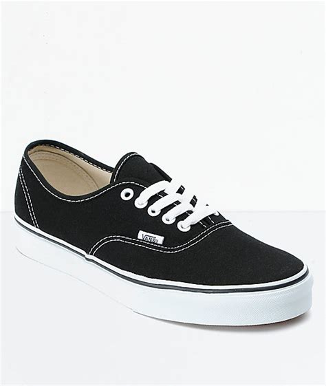 black vans shoes vans authentic black shoes at zumiez pdp
