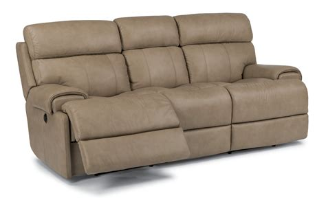 flex steel sofa flexsteel living room leather power reclining sofa 1441