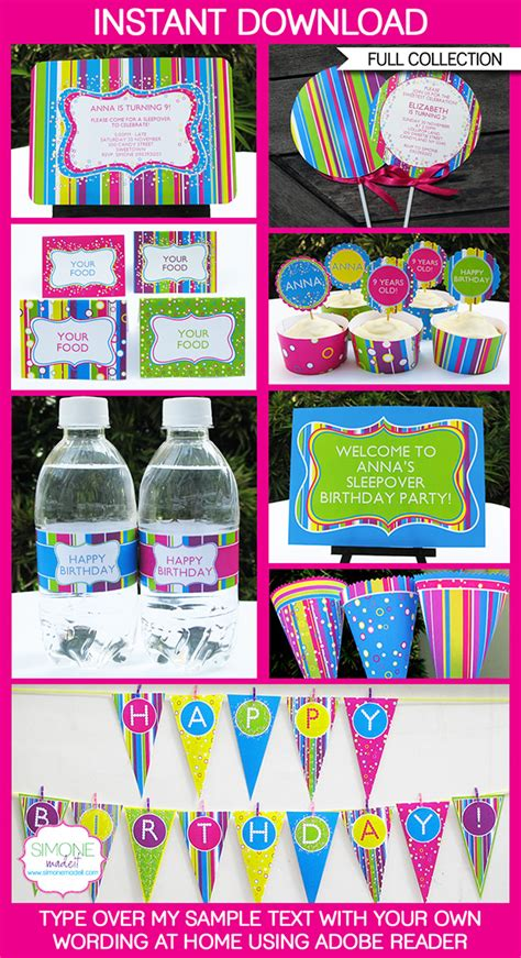 printable party decorations candyland party printables invitations decorations