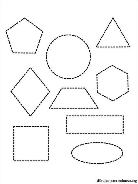 Dibujo con diferentes figuras geométricas para colorear
