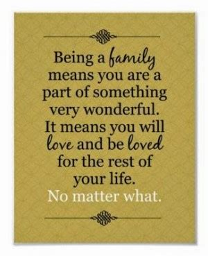 The family you created through marriage and child rearing philosophy