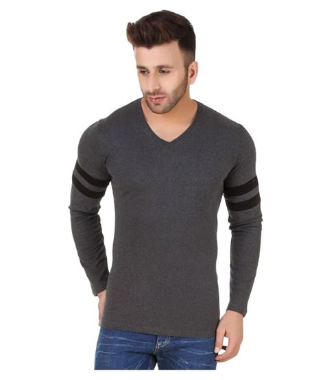 Grey Vneck fabstone collection grey v neck t shirt buy fabstone