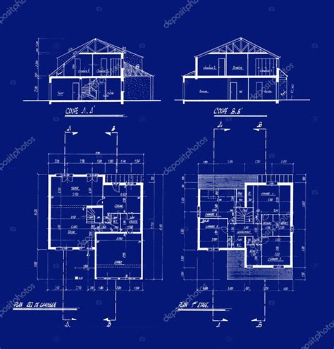 blueprint houses house blueprints stock photo 169 franckito 2540403