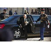 Russian President Vladimir Putin Gets Out Of His Car As He Prepares To