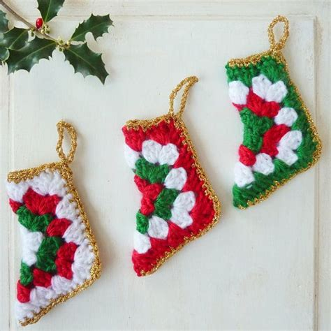 simple crochet pattern for christmas stocking crochet pattern christmas stocking holiday pdf ebook