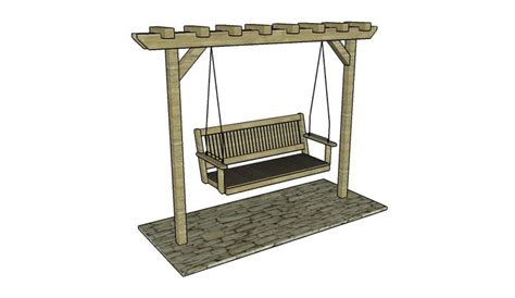 a frame swing stand plans swing stand plans garden arbor plans pinterest arbor