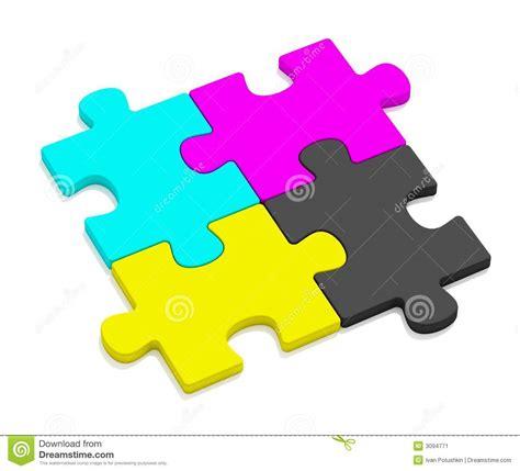 cmyk puzzle color cmyk puzzles stock image image 3094771