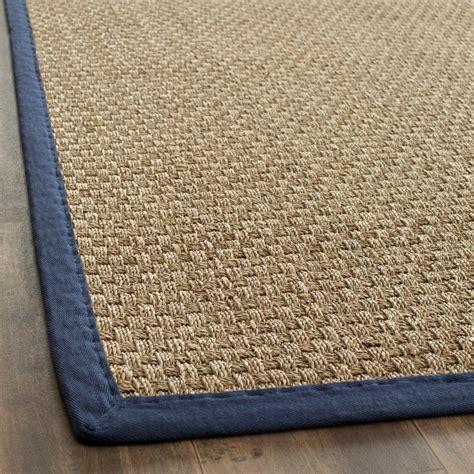 safavieh fiber seagrass blue area rugs