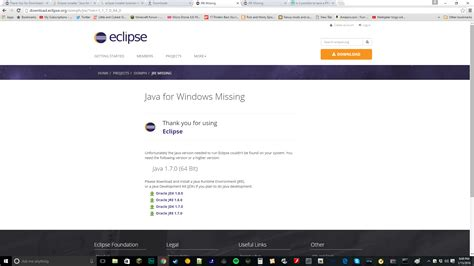 and install eclipse for java eclipse installer quot java for windows missing quot stack overflow