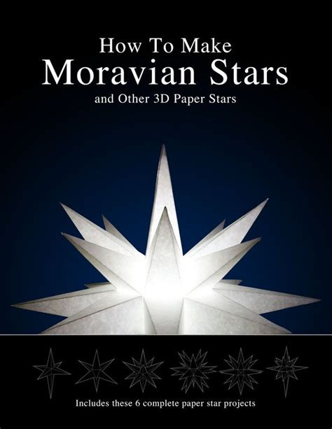how to make paper moravian stars instructions and