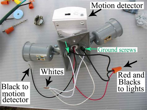 motion detection flood light wiring diagram wiring