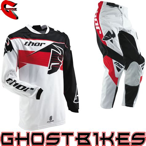 motocross jersey and pants combo thor 2013 phase s13 streak red mx enduro motocross jersey