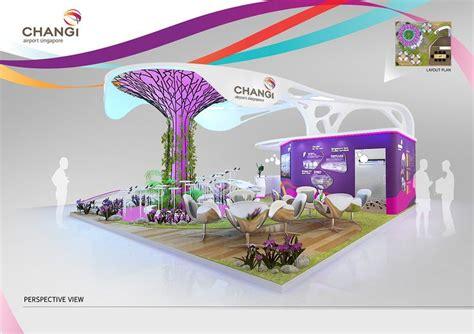 booth design behance changi airport on behance exhibition 1 pinterest