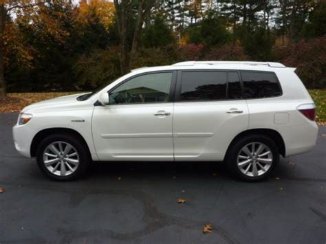 2008 Toyota Highlander Hybrid Mpg Purchase Used 2008 Toyota Highlander Hybrid Limited Sport