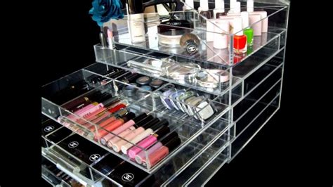 youtube organizer hottest celebrity brand acrylic makeup organizer icebox