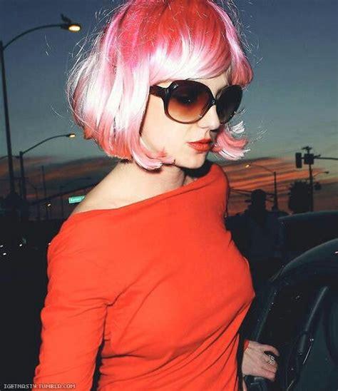 Britneys Wears Pink by Pink Wig Brit Pink Wig
