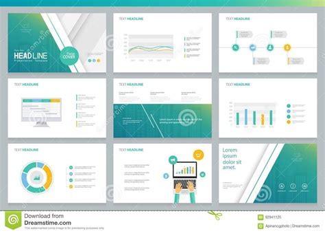 design and layout of business presentation business presentation design template and page layout for