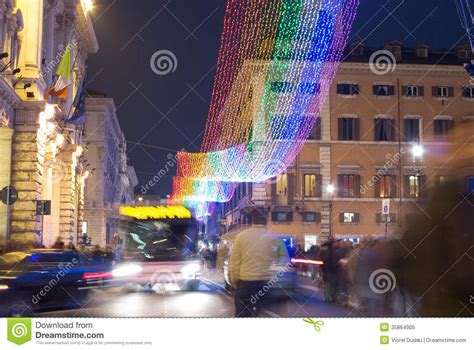 christmas decorations in italy facts decorations in rome editorial image image 35864905