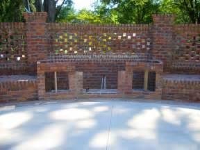 brick laminate picture brick garden wall designs