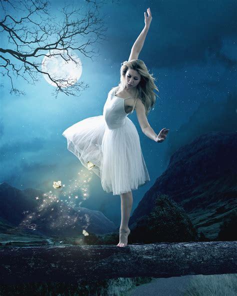 Ballerina Wall Mural moonlight dancer by pygar on deviantart