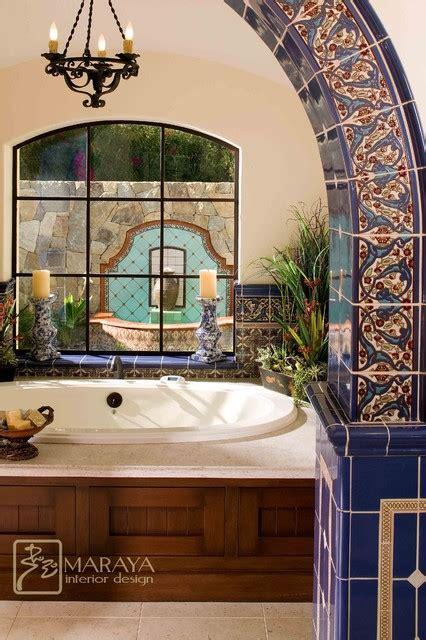bathtub in spanish malibu tile bathtub and fountain mediterranean