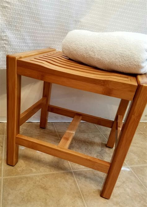 bamboo bathroom bench toilettree products bamboo bathroom bench is a lifesaver