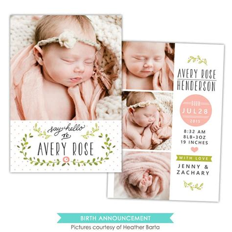 baby card template photoshop best 25 birth announcements ideas on birth
