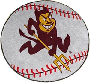 university of arizona fan gear fan mats arizona state university baseball mat fan gear