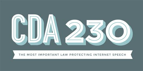 cda section 230 section 230 of the communications decency act electronic
