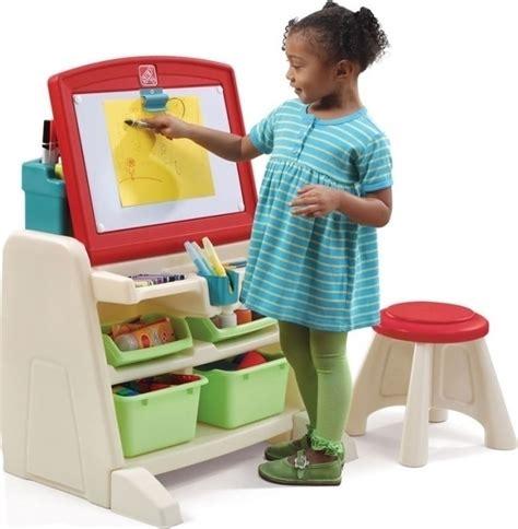 step2 flip doodle easel desk with stool teal lime