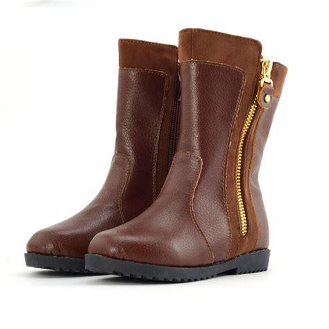 winter genuine leather children boots warm cotton