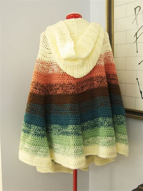 free pattern hooded cape ravelry patterns and hooded capes on pinterest