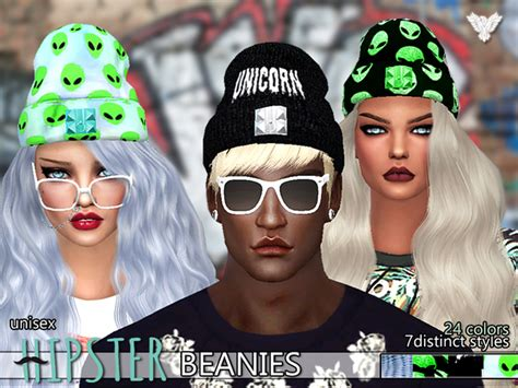 sims 4 beanie the sims resource hipster fantasy beanies pack by