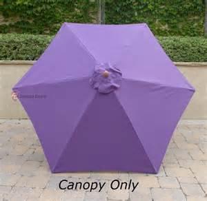 Patio Umbrella Replacement Covers 9ft Patio Umbrella Replacement Cover Canopy 6 Ribs Purple