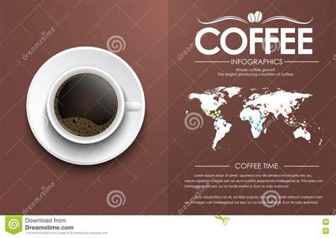 coffee text wallpaper coffee cup on a brown background with text stock vector