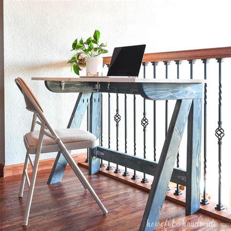 diy fold  desk  xs houseful  handmade