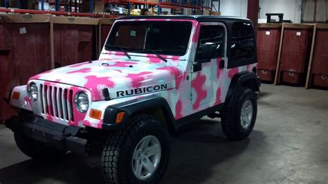 jeep wrangler custom pink pink camo jeep rubicon all i can think of is barbie when