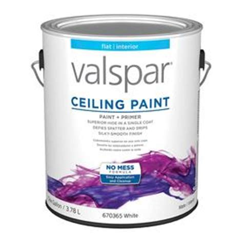 Based Ceiling Paint by Shop Valspar Gallon Size Container Interior Flat Ceiling