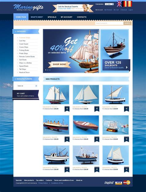 website templates for gift shop gifts store oscommerce template 30661