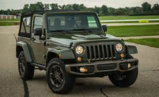 2016 jeep wrangler 75th anniversary edition test review