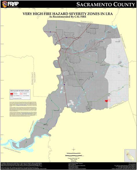 Sacramento County Property Records Cal Sacramento County Fhsz Map
