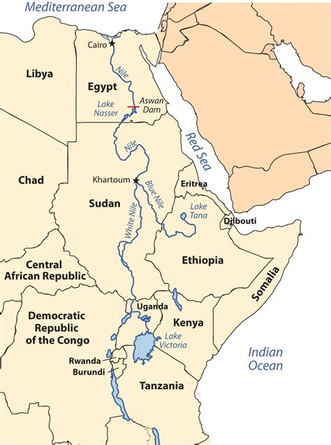 africa map nile river africa and southwest asia