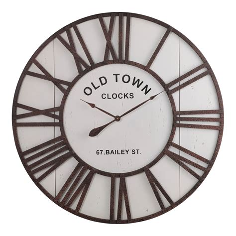 Oak Furniture Land Clocks by Dayton Wall Clock By Oak Furniture Land