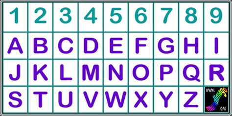tavola dei numeri numeri