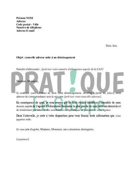 Exemple De Lettre Familiale Lettre Pour Pr 233 Venir La Caf De D 233 M 233 Nagement Pratique Fr